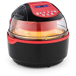 Klarstein VitAir Turbo Smart Heißluftfritteuse • Heißluftgarer • Airfryer • 1400 Watt • 10 L • 20 Programme • 50-230 °C • gleichmäßige Hitzeverteilung • LCD-Display • Timer • inkl. Zubehör • rot
