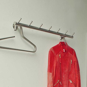 Kleiderhaken aus Edelstahl 80 cm breit