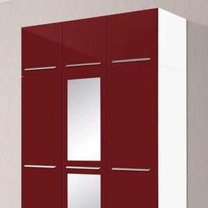 Kleiderschrank, T/H 55/218 cm, rot, Breite 140 cm