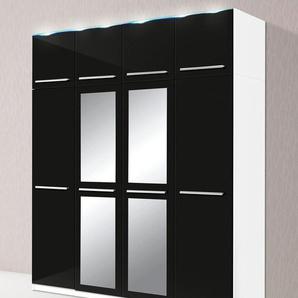Kleiderschrank, T/H 55/218 cm, schwarz, Breite 185 cm
