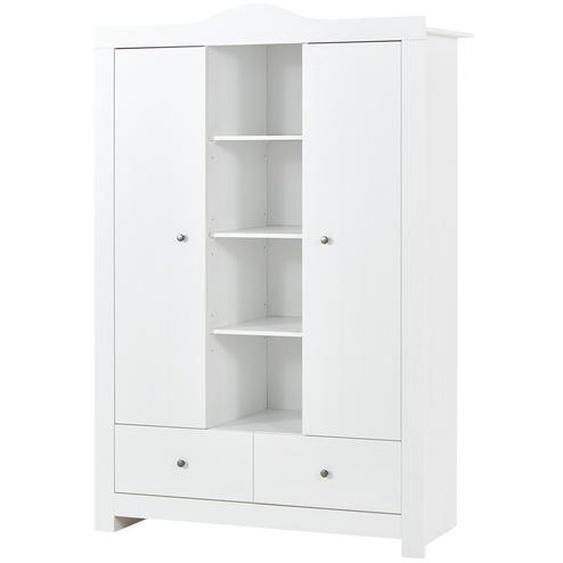 Kleiderschrank 2-türig - weiß - 132 cm - 195 cm - 51 cm | Möbel Kraft