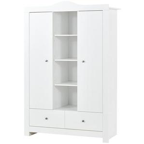 Kleiderschrank 2-türig   weiß   132 cm   195 cm   51 cm   Möbel Kraft