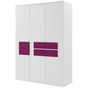 Kleiderschrank 3-türig | rosa/pink | 151,3 cm | 214,8 cm | 61,5 cm | Möbel Kraft