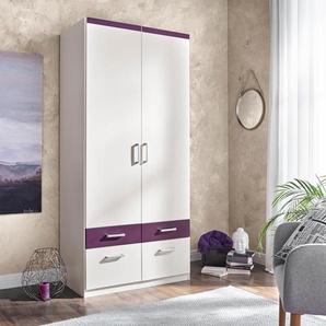 Kleiderschrank, Breite 94 cm, lila