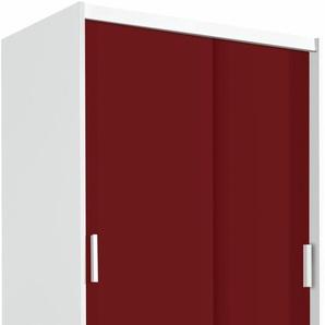 Kleiderschrank, rot, Breite 95 cm