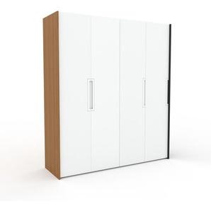 Kleiderschrank Eiche/Anthrazit - Individueller Designer-Kleiderschrank - 204 x 233 x 62 cm, Selbst Designen, Kleiderstange
