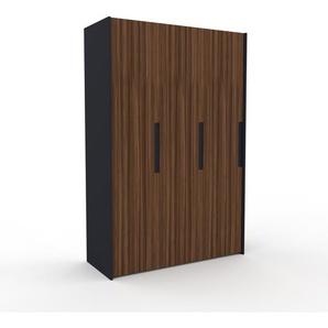 Kleiderschrank Anthrazit, Holz - Individueller Designer-Kleiderschrank - 154 x 233 x 62 cm, Selbst Designen, Kleiderstange/hohe Schublade