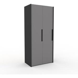Kleiderschrank Anthrazit - Individueller Designer-Kleiderschrank - 104 x 233 x 62 cm, Selbst Designen, Schuhauszug