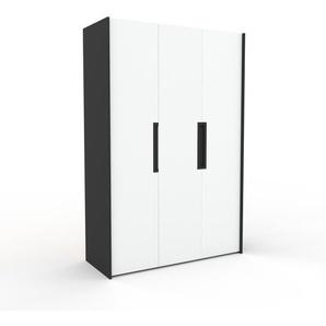 Kleiderschrank Anthrazit - Individueller Designer-Kleiderschrank - 154 x 233 x 62 cm, Selbst Designen, Kleiderstange/hohe Schublade/Schublade Glasfront/Hosenhalter