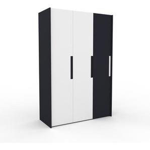 Kleiderschrank Anthrazit - Individueller Designer-Kleiderschrank - 154 x 233 x 62 cm, Selbst Designen, Kleiderstange