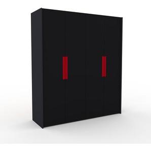 Kleiderschrank Anthrazit - Individueller Designer-Kleiderschrank - 204 x 233 x 62 cm, Selbst Designen, Kleiderstange