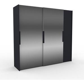 Kleiderschrank Anthrazit - Individueller Designer-Kleiderschrank - 254 x 233 x 65 cm, Selbst Designen, hohe Schublade/Schublade Glasfront