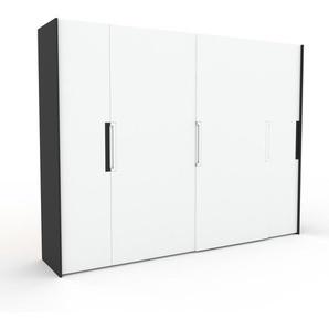 Kleiderschrank Anthrazit - Individueller Designer-Kleiderschrank - 304 x 233 x 65 cm, Selbst Designen, Kleiderstange/hohe Schublade
