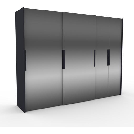 Kleiderschrank Anthrazit - Individueller Designer-Kleiderschrank - 304 x 233 x 65 cm, Selbst Designen, Böden/Kleiderstange