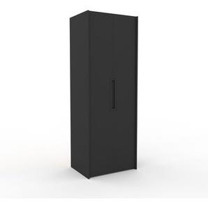 Kleiderschrank Anthrazit - Individueller Designer-Kleiderschrank - 84 x 233 x 62 cm, Selbst Designen, Schuhauszug/Kleiderstange/hohe Schublade/Schublade Glasfront