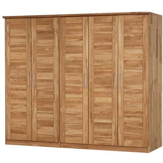 Kleiderschrank aus Wildeiche Massivholz 5 Türen