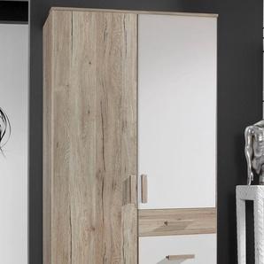 Kleiderschrank Bergamo, 2-türig B/H/T: 90 cm x 199 58 braun Kinder Kindermöbel Möbel sofort lieferbar
