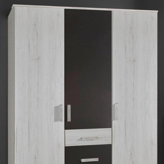 Kleiderschrank Bergamo, 3-türig 135 x 199 58 (B H T) cm weiß Kinder Kinderschränke Kindermöbel Schränke