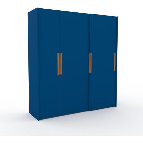 Kleiderschrank Blau - Individueller Designer-Kleiderschrank - 214 x 233 x 65 cm, Selbst Designen, Kleiderstange/hohe Schublade