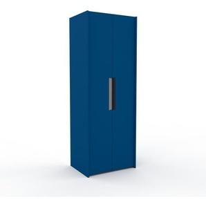 Kleiderschrank Blau - Individueller Designer-Kleiderschrank - 84 x 233 x 62 cm, Selbst Designen, Kleiderstange