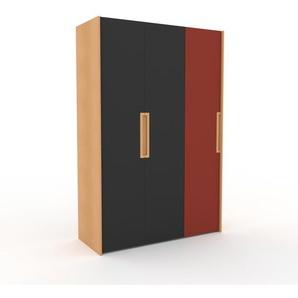 Kleiderschrank Buche - Individueller Designer-Kleiderschrank - 154 x 233 x 62 cm, Selbst Designen, Kleiderstange/Schublade Glasfront