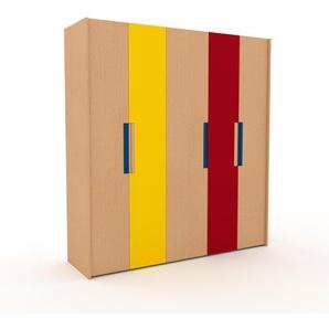 Kleiderschrank Buche - Individueller Designer-Kleiderschrank - 214 x 233 x 62 cm, Selbst Designen, Schublade Glasfront/Kleiderlift