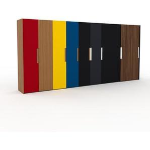 Kleiderschrank Eiche/Anthrazit - Individueller Designer-Kleiderschrank - 504 x 233 x 65 cm, Selbst Designen, Kleiderstange/Kleiderlift