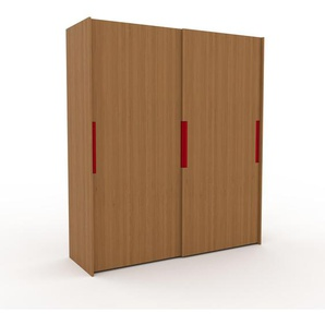 Kleiderschrank Eiche, Holz - Individueller Designer-Kleiderschrank - 204 x 233 x 65 cm, Selbst Designen, Böden/hohe Schublade/drawer_small_fronts/Kleiderlift