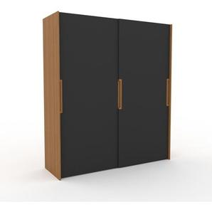 Kleiderschrank Eiche - Individueller Designer-Kleiderschrank - 204 x 233 x 65 cm, Selbst Designen, Kleiderstange/hohe Schublade