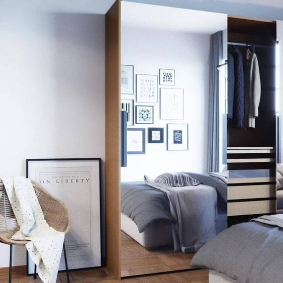 Kleiderschrank Eiche - Individueller Designer-Kleiderschrank - 254 x 233 x 65 cm, Selbst Designen, Böden/hohe Schublade/Schublade Glasfront/drawer_small_fronts/Kleiderstange