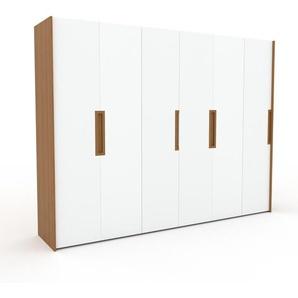 Kleiderschrank Eiche - Individueller Designer-Kleiderschrank - 304 x 233 x 62 cm, Selbst Designen, Kleiderstange/hohe Schublade/Kleiderlift