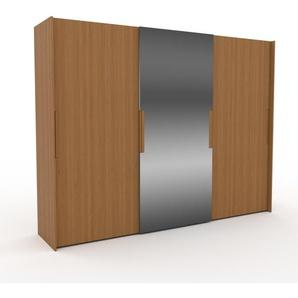 Kleiderschrank Eiche - Individueller Designer-Kleiderschrank - 304 x 233 x 65 cm, Selbst Designen, Kleiderstange/hohe Schublade/Hosenhalter