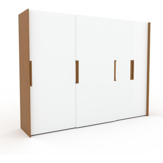 Kleiderschrank Eiche - Individueller Designer-Kleiderschrank - 304 x 233 x 65 cm, Selbst Designen, Böden/hohe Schublade/Kleiderlift/Hosenhalter/Kleiderstange