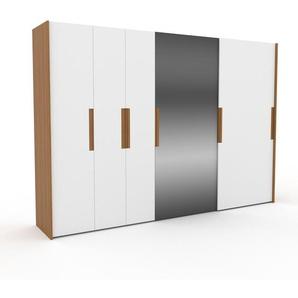 Kleiderschrank Eiche - Individueller Designer-Kleiderschrank - 334 x 233 x 65 cm, Selbst Designen, Schuhauszug/Kleiderstange