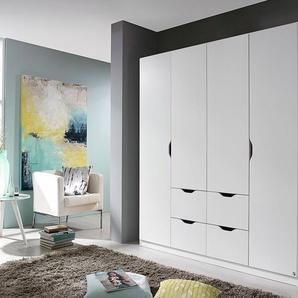 PACK´S Kleiderschrank , weiß, Breite 181 cm, 4-türig, »Freiham«, Rauch