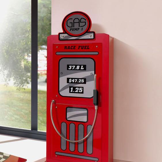 Kleiderschrank Gas Pump, rot