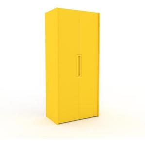 Kleiderschrank Gelb - Individueller Designer-Kleiderschrank - 104 x 233 x 62 cm, Selbst Designen, Kleiderstange