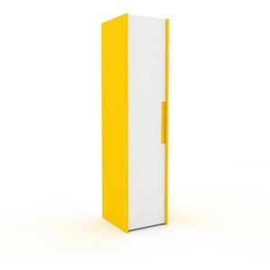 Kleiderschrank Gelb - Individueller Designer-Kleiderschrank - 54 x 233 x 62 cm, Selbst Designen, hohe Schublade