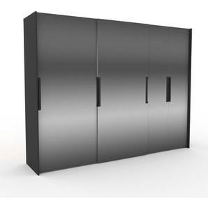 Kleiderschrank Anthrazit - Individueller Designer-Kleiderschrank - 304 x 233 x 65 cm, Selbst Designen, Kleiderstange