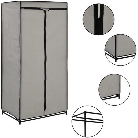 Kleiderschrank Grau 75×50×160 cm