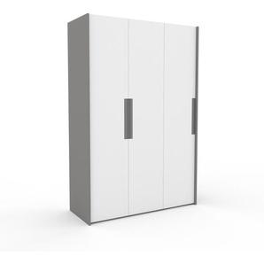 Kleiderschrank Grau - Individueller Designer-Kleiderschrank - 154 x 233 x 62 cm, Selbst Designen, hohe Schublade/Kleiderlift
