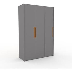 Kleiderschrank Grau - Individueller Designer-Kleiderschrank - 154 x 233 x 62 cm, Selbst Designen, hohe Schublade