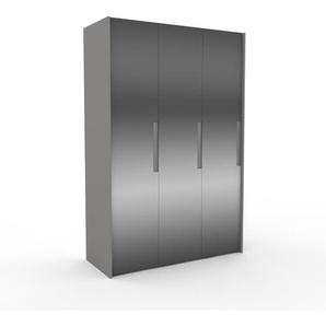 Kleiderschrank Grau - Individueller Designer-Kleiderschrank - 154 x 233 x 62 cm, Selbst Designen, Kleiderlift