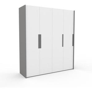 Kleiderschrank Grau - Individueller Designer-Kleiderschrank - 204 x 233 x 62 cm, Selbst Designen, Kleiderstange