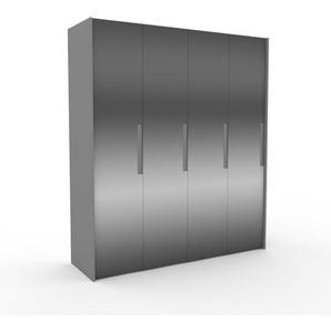 Kleiderschrank Grau - Individueller Designer-Kleiderschrank - 204 x 233 x 62 cm, Selbst Designen, Kleiderstange/Kleiderlift