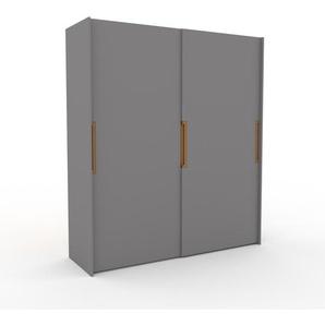 Kleiderschrank Grau - Individueller Designer-Kleiderschrank - 204 x 233 x 65 cm, Selbst Designen, hohe Schublade/Kleiderlift