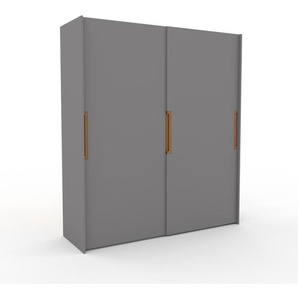 Kleiderschrank Grau - Individueller Designer-Kleiderschrank - 204 x 233 x 65 cm, Selbst Designen, Kleiderstange