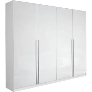 PACK´S Kleiderschrank »Lorca«, weiß, Breite 226 cm, 4-türig, Hochglanz, rauch