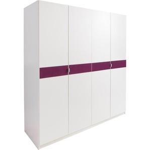 Kleiderschrank »Madrid«, Breite 185 cm, lila, Höhe 193 cm