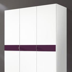 Kleiderschrank »Madrid«, lila, Breite 140 cm, Höhe 173cm,